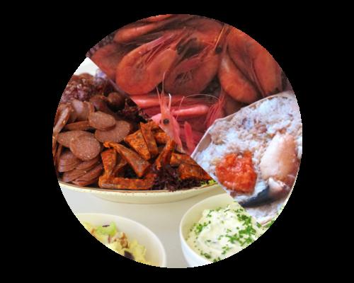 Reker, Krabbe & Spekemat-buffet